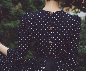 dress, vintage, and polka dots image