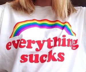 rainbow, aesthetic, and fashion image