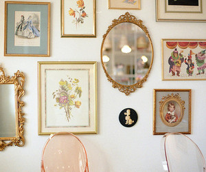 mirror, vintage, and frame image