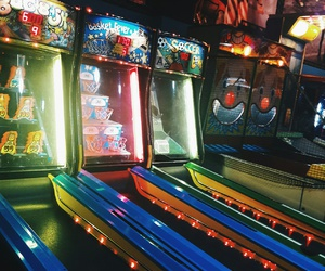 arcade, grunge, and neon image