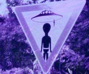 alien, grunge, and purple image