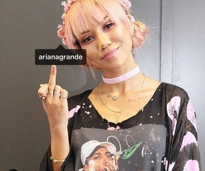middle finger, ariana, and grande image