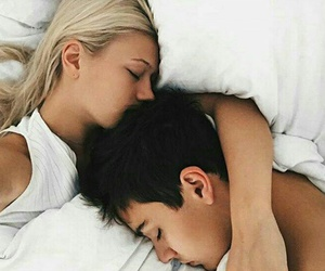 bed, boy, and sleep image