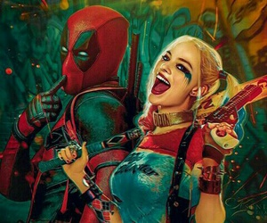deadpool, harley quinn, and suicide squad image