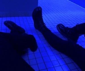 grunge, black, and blue image