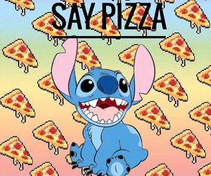 food, pizza, and stitch image