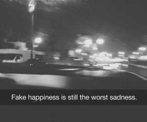 sad, fake, and quote image