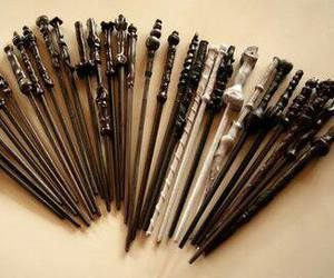 harry potter, wand, and harry image