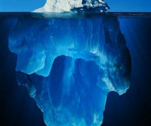 ice, iceberg, and blue image