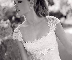 dress, model, and black and white image