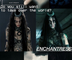 suicide squad, wallpaper, and enchantress image