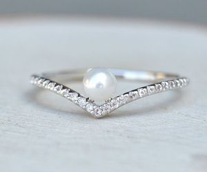jewelry, silver, and ring image