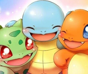 pokemon, squirtle, and bulbasaur image