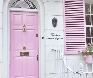 pink, door, and house image
