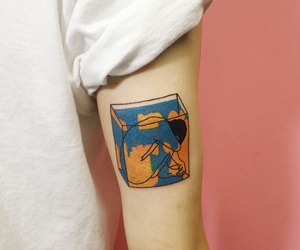tattoo, art, and pink image