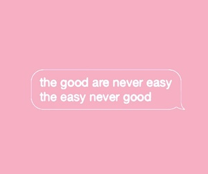 Easy, good, and pink image