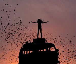 freedom and girl image