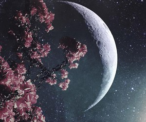 candles, galaxy, and moon image
