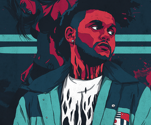 singer, the weeknd, and art image