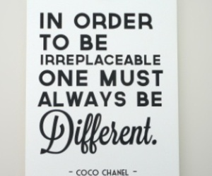 quotes, different, and chanel image
