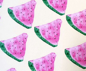 background, summer, and watermelons image