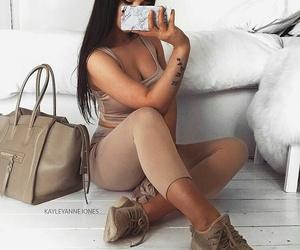 brunette, fashion, and cashmire image
