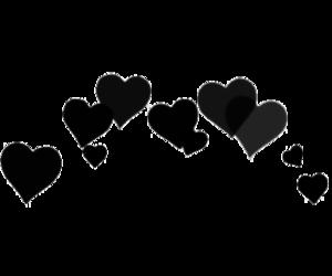 black, edit, and hearts image