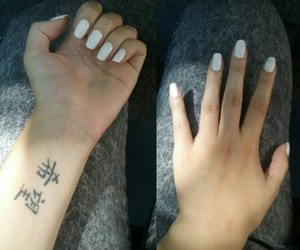 black, nails, and tatouage image