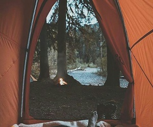 autumn, love, and camping image