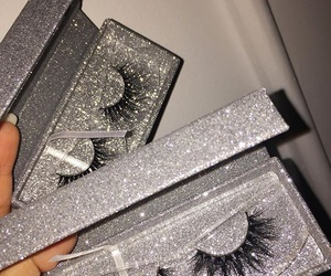 eyelashes, luxury, and makeup image