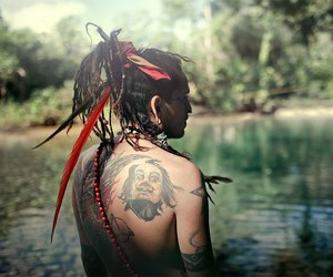 tattoo, dreads, and nature image