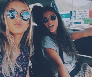 best friends, blonde, and driving image
