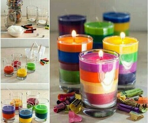 diy, candle, and colors image