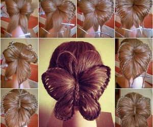 hair, butterfly, and diy image