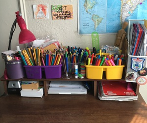 colors, lapices, and organization image
