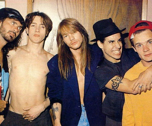 axl rose, Guns N Roses, and red hot chili peppers image