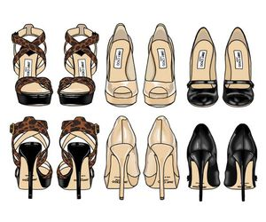 shoes, heels, and art image