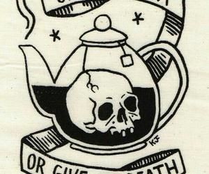 tea, death, and skull image