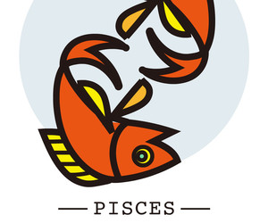 background, pisces, and signs image