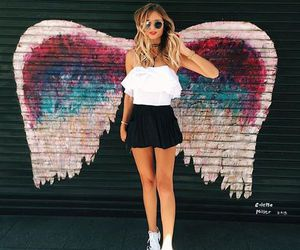 fashion, girl, and angel image