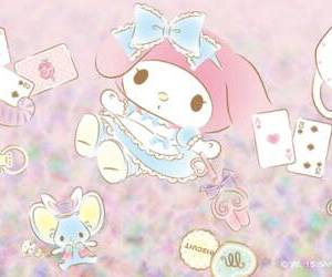 my melody, sanrio, and wallpaper image