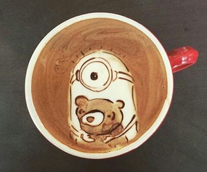 coffee, minions, and cup image