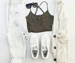 adidas, white, and chic image