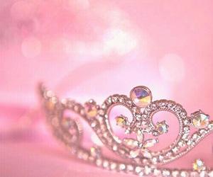 princess, tiara, and pink image