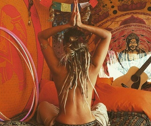 hippie, dreads, and yoga image