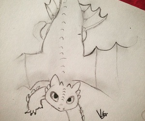 dibujo, how to train your dragon, and night fury image