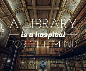 book, library, and quote image