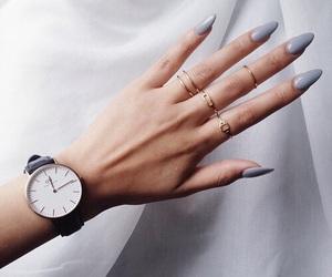 grey, nail, and nailart image