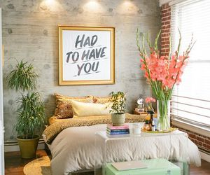 bedroom, flowers, and design image