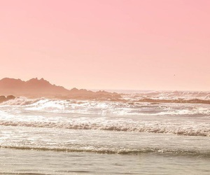 background, beach, and pink image